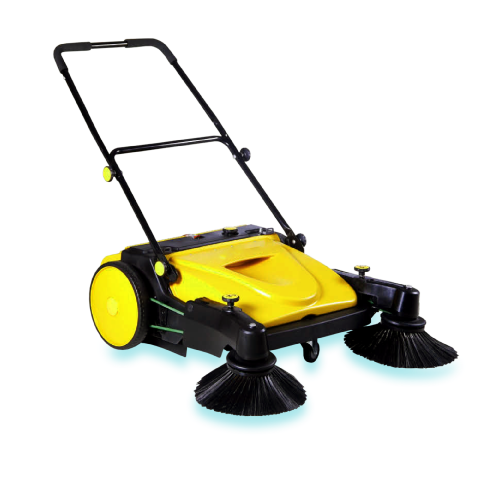 Fast Clean Rally WSW37 Extended Twin Brush Push Sweeper
